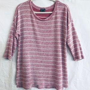 🐋 Eddie Bauer | Light Weight Striped Sweater Sz M